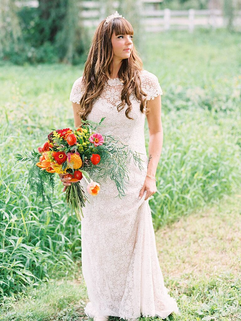 17 Boho Lace Wedding Dresses For The Free Spirited Bride