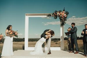 Contemporary White Wedding Arch