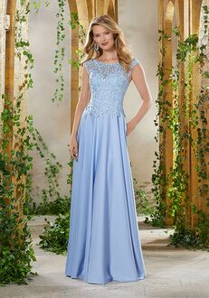 MGNY 71932 Blue Mother Of The Bride Dress