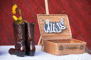 Woven Suitcase Wedding Card Holder