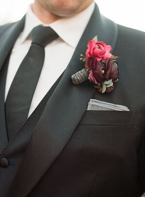 Wine Colored Ranunculus Boutonniere