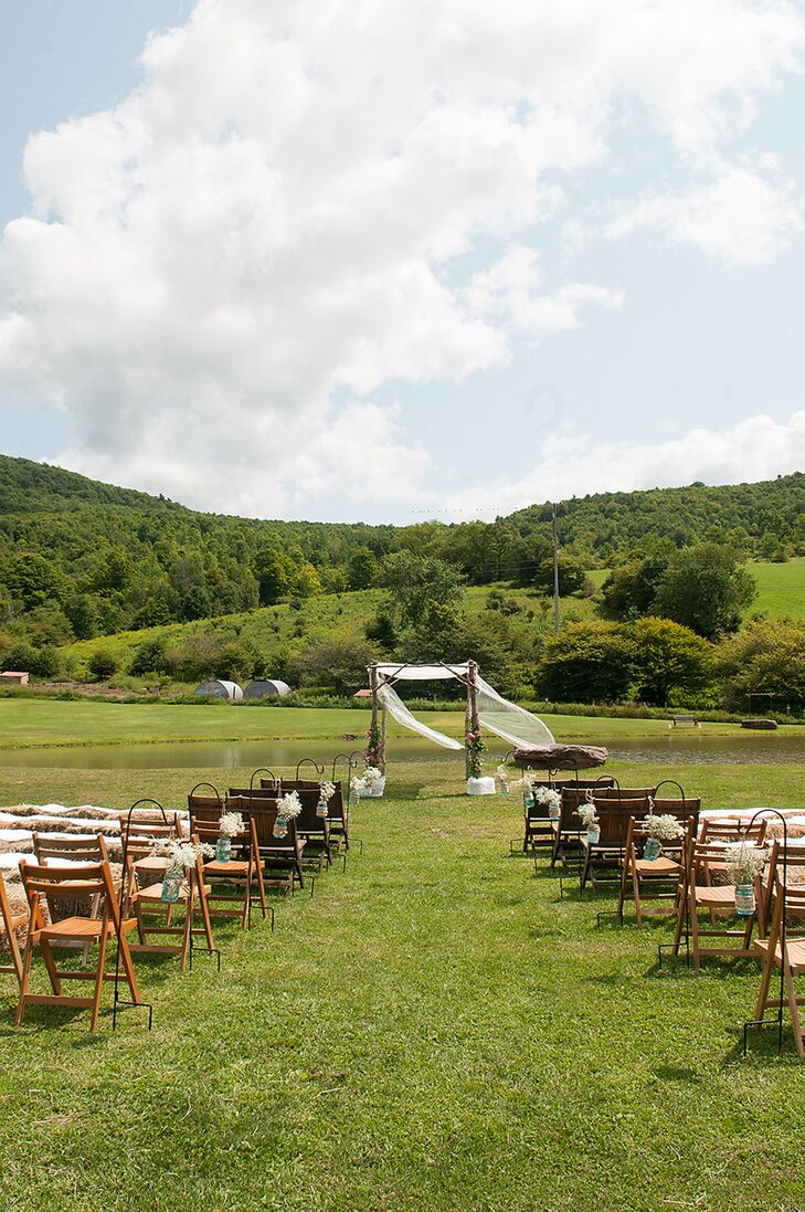 Rustic, Outdoor Ceremony at Maple Shade Farm