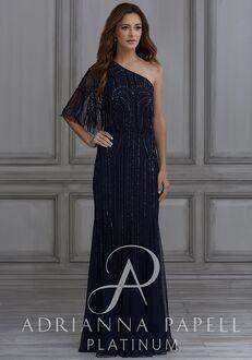Adrianna Papell Platinum 40130 Off the Shoulder Bridesmaid Dress