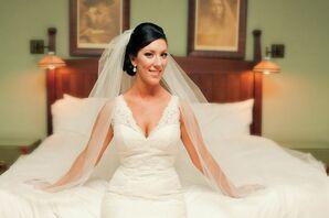 Pronovias Lace Wedding Dress, Tulle Veil