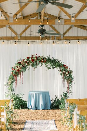 Ceremony Site with Circular Arch and Draping
