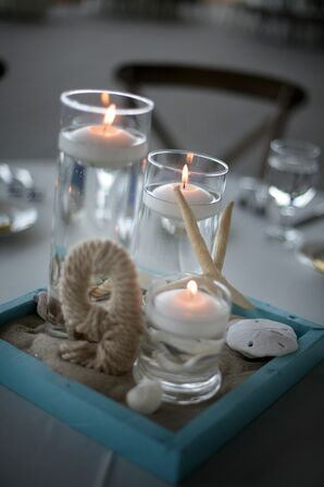 Nautical Floating-Candle Centerpieces