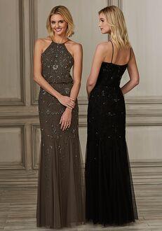 Adrianna Papell Platinum 40158 Halter Bridesmaid Dress