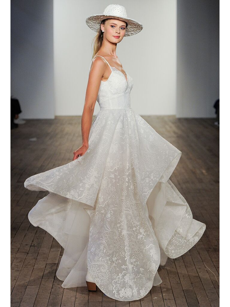 hayley paige wedding dress tired skirt ball gown