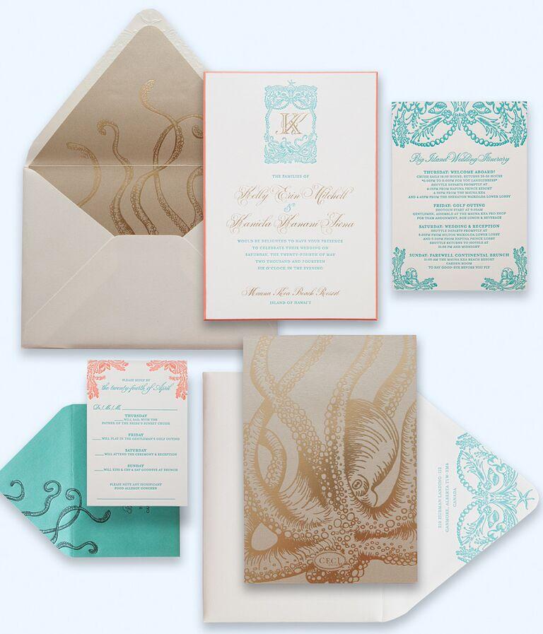Ceci New York beach-inspired wedding paper