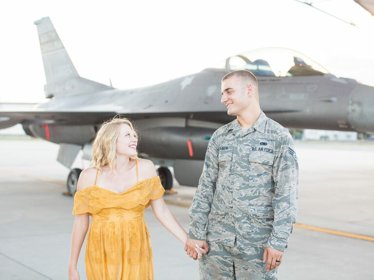 A Personal, Airbase Engagement Photo Shoot