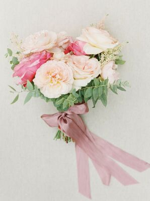Cream-and-Pink Bouquet for Wedding at Kestrel Park in Santa Ynez, California