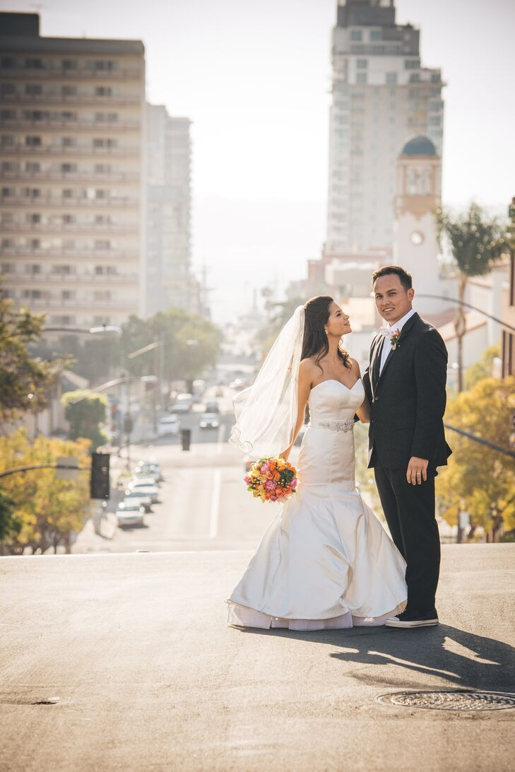 Jess Gerges (28 and a business owner) and Steven Tran (30 and in wholesale produce) crossed paths when a stray dog approached Jess while on her way to