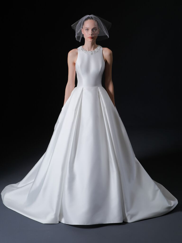 Isabelle Armstrong Spring 2020 Bridal Collection high-neck sleeveless A-line wedding dress
