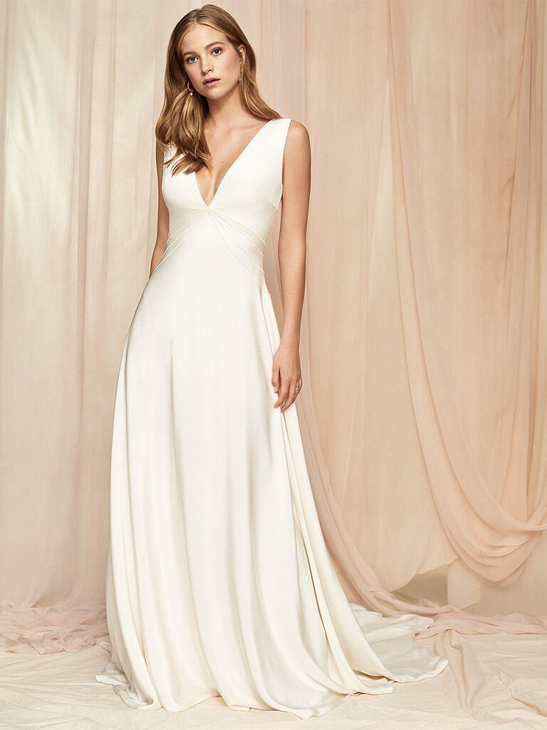 Savannah Miller silk dress with V-neckline