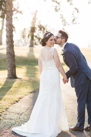 Pearl Beaded Justin Alexander Wedding Dress