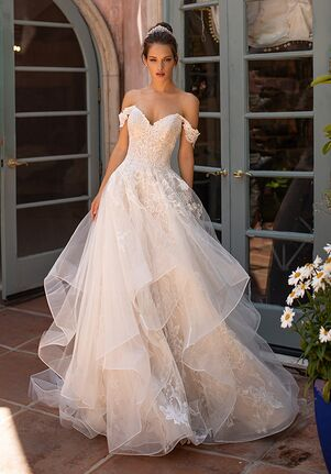 Moonlight Couture H1428 Ball Gown Wedding Dress