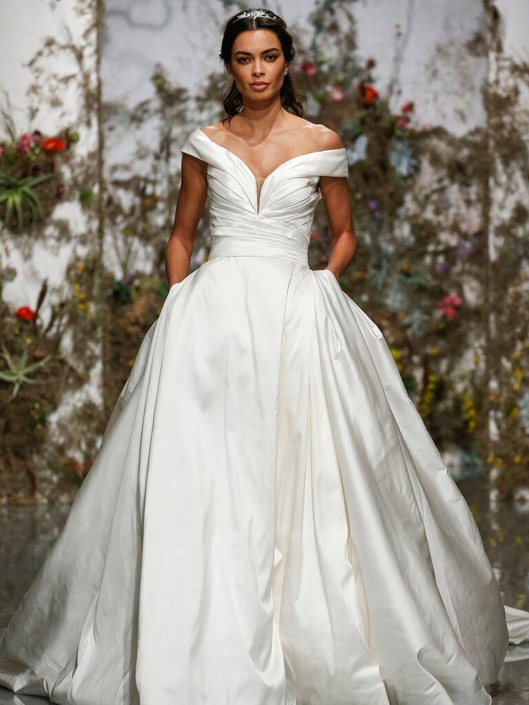Morilee by Madeline Gardner Spring 2020 off-the-shoulder ball gown
