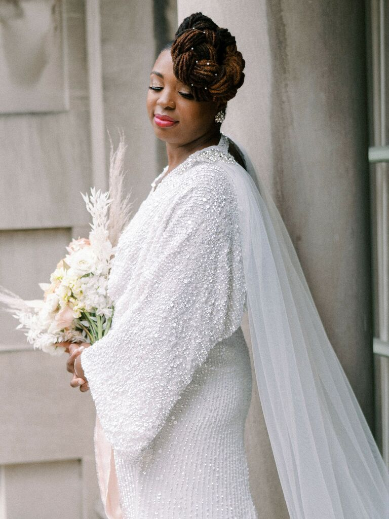 wedding updos side twist