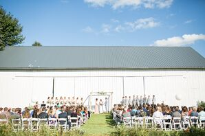 Playful, Modern Ceremony at a Private Barn Residence