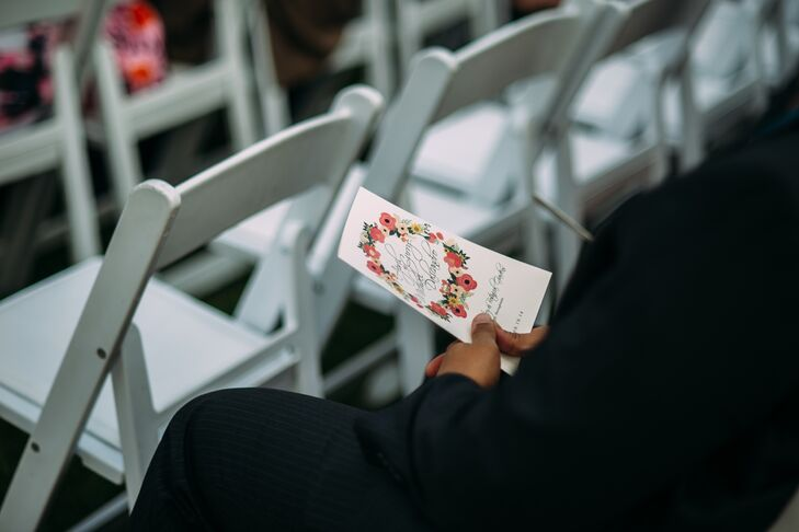 Custom Designed Floral Wedding Program