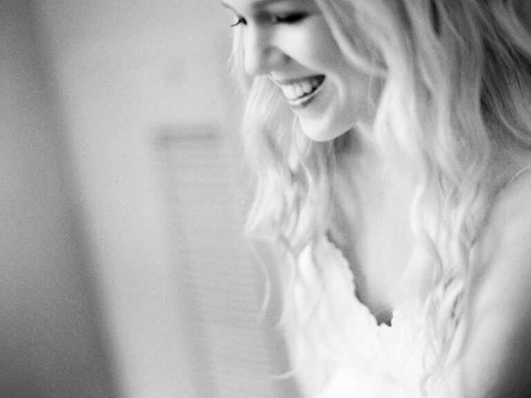 Bride relaxing and unwinding
