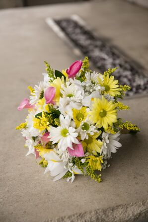 Colorful Daisy and Calla Lily Bridal Bouquet