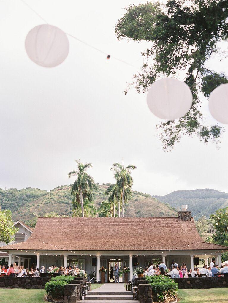 Summer wedding reception venue
