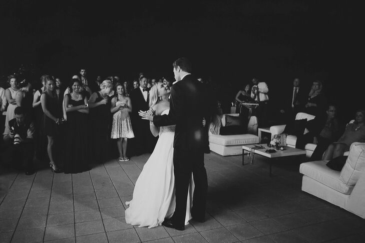 "The couple chose ""No One's Gonna Love You"" by Band of Horses for their first dance. It was perfect, it combined our love of indie music with the appropriateness of a first dance song, says Sarah."