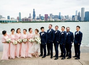 "Mary Suen and Eric Chung wed in a modern, luxurious museum wedding that celebrated the bride's Chinese culture and the groom's Korean culture. ""The in"