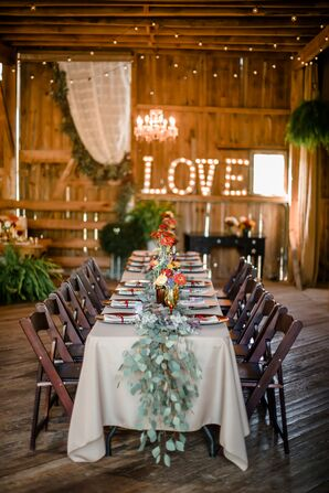 Rustic Barn Reception at Shady Elms Farm