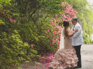Loving all things sparkly, feathery and girly, Stephanie Couto (43 and a paralegal) and Danny Martin (40 and a manufacturing representative) turned th