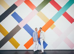 After a mutual proposal over a celebratory glass of champagne, Chicago-based couple Nick Kluding (45 and a real estate broker) and Ricardo Mendoza (45