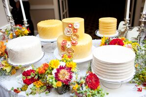 Assortment of Yellow and White Cakes