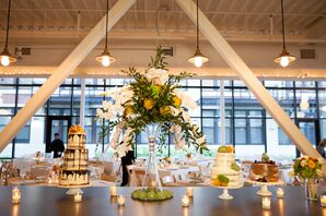 Modern Wedding Reception at Greenhouse Loft