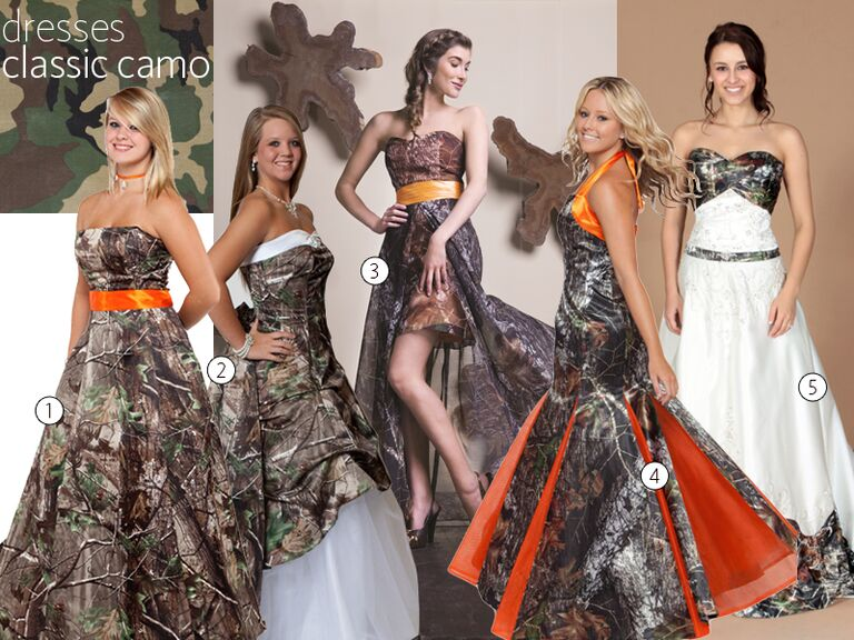 5 Clic Camo Wedding Dresses