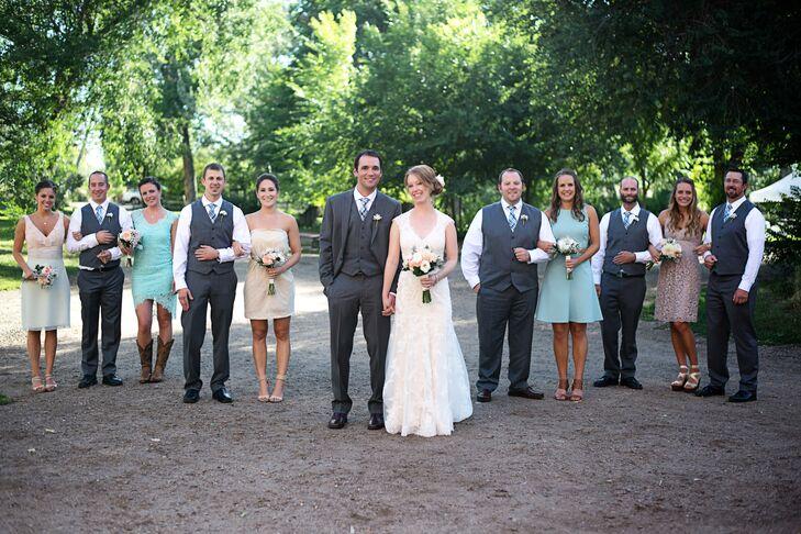 Rustic, Casual Wedding Party