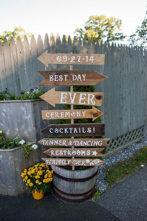 Handmade Wooden Arrow Signpost
