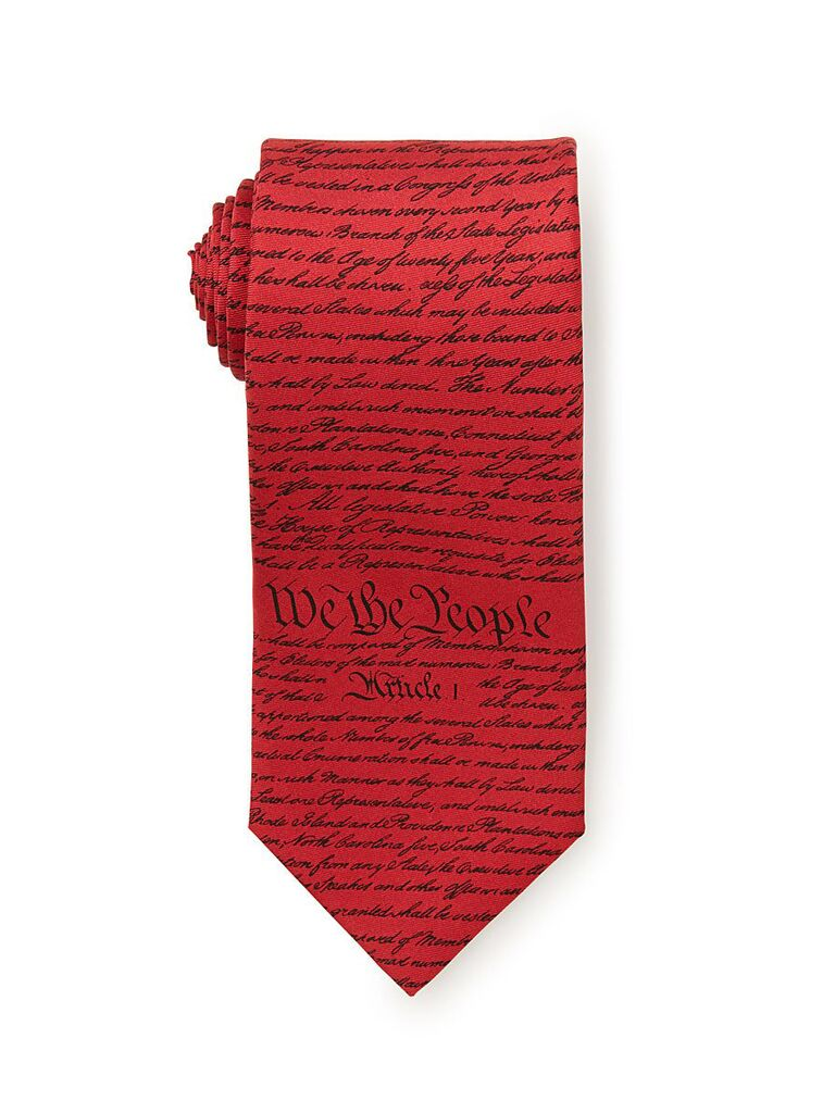 Founding Fathers father of the groom tie