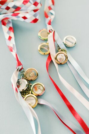 Lockets and Braided Ribbon for Celtic Handfasting Ceremony
