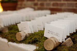 Birch Log Escort Card Display