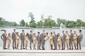 Bridal Party in Yellow and Gray
