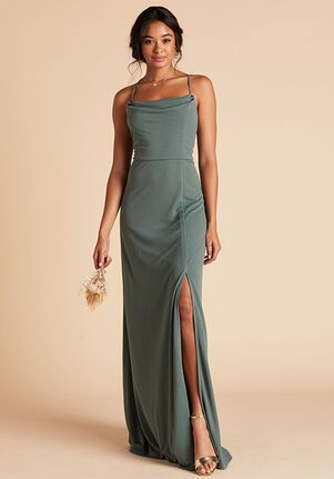 Birdy Grey Ash Crepe Dress in Sea Glass Scoop Bridesmaid Dress