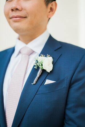 Pale-Pink Tie and Pocket Square