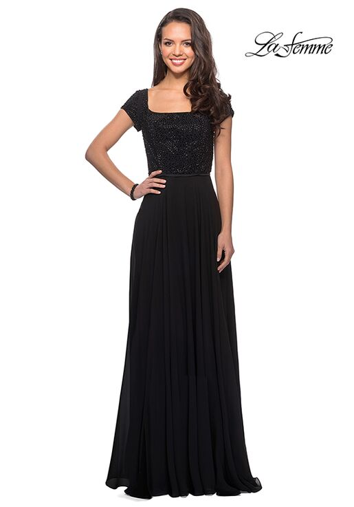 La Femme Evening 26512 Black Mother Of The Bride Dress