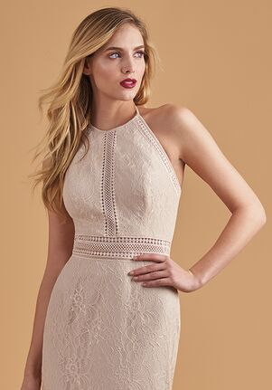 Belsoie Bridesmaids by Jasmine L204055 Halter Bridesmaid Dress