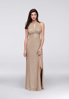 David's Bridal Mother of the Bride R&M Richards Style 9283 Gold Mother Of The Bride Dress
