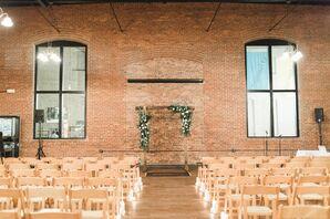 Wooden Wedding Arch With Garlands