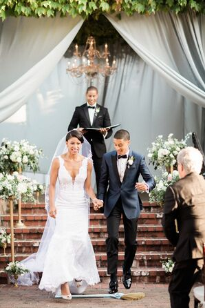 Classic Couple Jumping the Broom