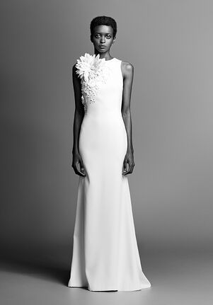 Viktor&Rolf Mariage COUTURE FLOWER FIT AND FLARE CREPE Sheath Wedding Dress