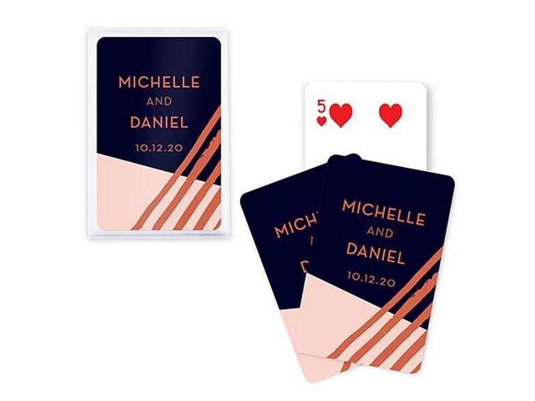 Unique deck of cards wedding favors